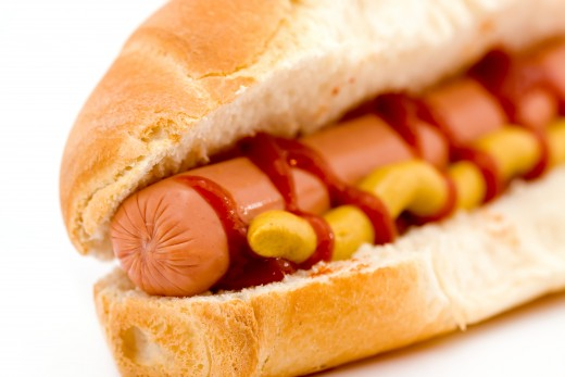 Hotdogs are popular at outdoor events.