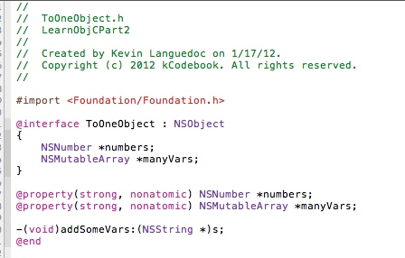 Declare NSMutableArray variable