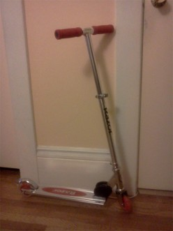 What it's like to be an adult with a Razor scooter.