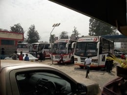 Passengers to Kisumu and other destinations take a break at Nakuru for snacks