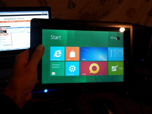 My W500 running Windows 8