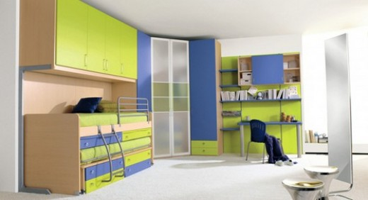 You can use bright colors in a boy's bedroom.