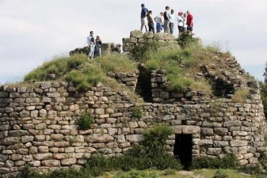 Fascinating nuraghe.  Nuraghi (plural) can be found mostly on the interior of Sardinia.