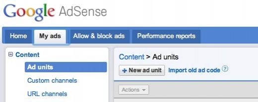 Adsense Create New Ad