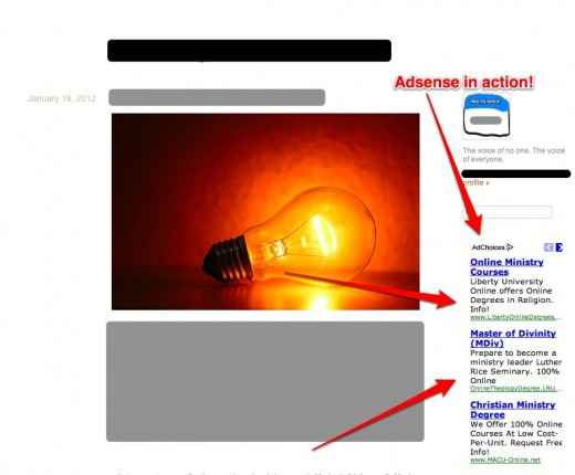 Adsense on Posterous