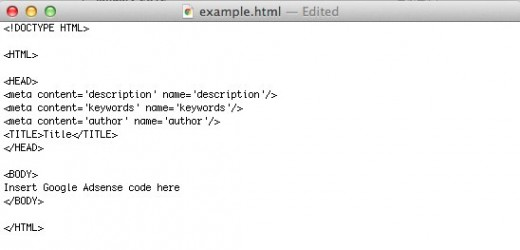 TextEdit html File