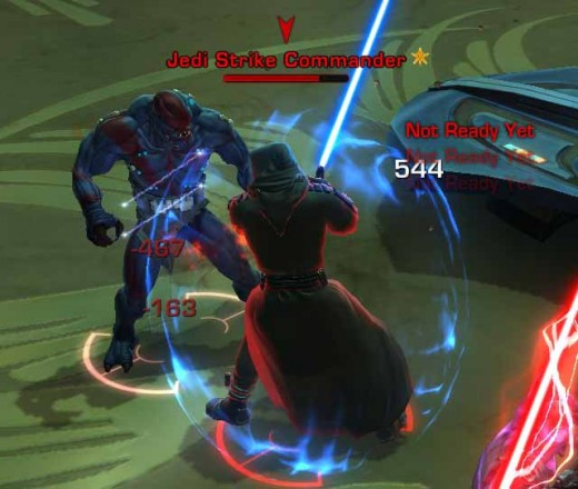 SWTOR Defeating the Jedi Strike Commander