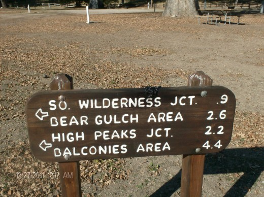 Hiking trails vary in length.