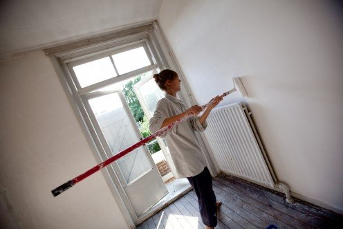 Painting a room is a quick and inexpensive home improvement project even a beginner can do