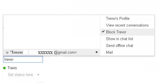 You can always go back and unblock Gmail Chat contacts.
