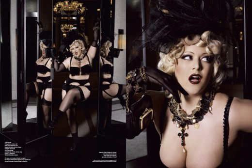 Burlesque performer Dirty Martini
