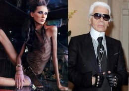 Karl Lagerfeld defends anorexic model