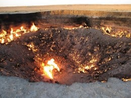 "Fires burn indefinitely at the ""Door to Hell"""