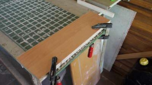 1. When the tile is too wide for your cutting machine, then install a fence on the tile instead.
