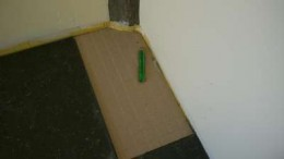 3. When cutting into a non-linear shape, make a cardboard template first.