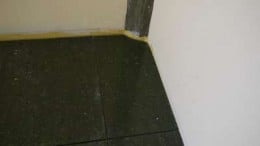 5. Here is the tile in place. Check for correct shape.