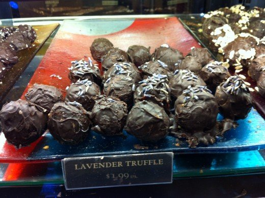 Lavender Truffles--my first gourmet chocolate!