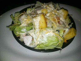 Crisp, cool and fresh salad served alongside my burger was one of several delicious sides available.