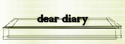 Poem: Dear Diary