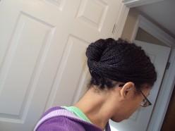 Box Braids and Updos: Natural hairstyles