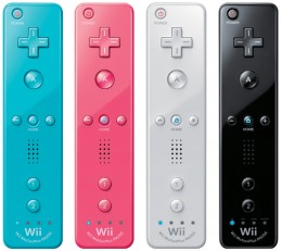 The Nintendo Wii Remote comes in a variety of colors.