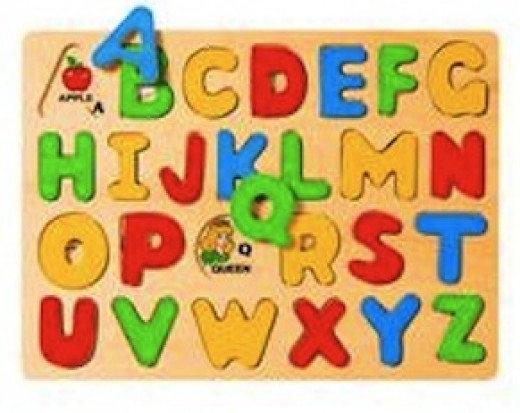 This puzzle is similar to one my daughter had and it worked great for learning capital letters and the order of the alphabet.