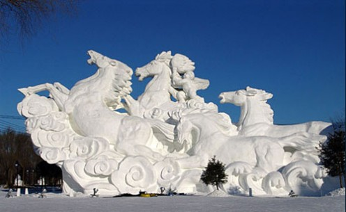 Amazing to think this was carved out of snow.