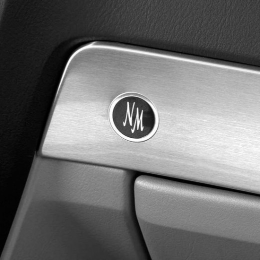 Neiman Marcus logo on the doors of the 2002 Special Edition Ford Thunderbird