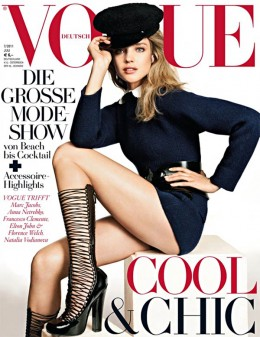 model Natalia Vodianova wears Louis Vuitton Autumn-Winter 2011-2012