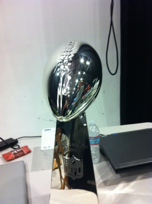 SuperBowl XLVI The Vince Lombardi Trophy made of Tiffany Silver
