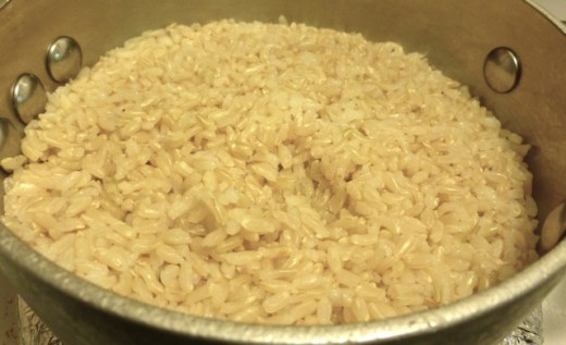 brown rice is healthy and pennies a meal.