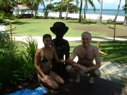 My wife, Juvy, and I at Ananyana Beach Resort, Bohol and near Cebu, Philippines. Copyright Rod Martin, Jr.