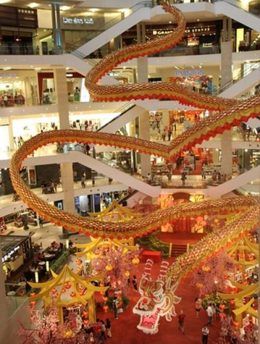 2012 Chinese New Year decoration at Pavilion shopping mall