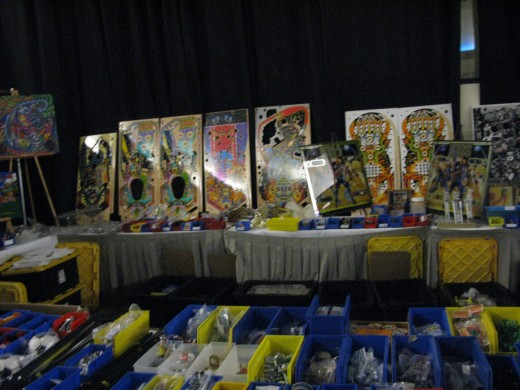 There'll be vendors with lots of parts available at the pinball festival.