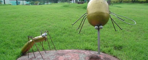 The Gary Larson-esque Mosquito Monument in Suwon City, South Korea