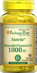 CHEWABLE VITAMIN D3 - 1,000 IU