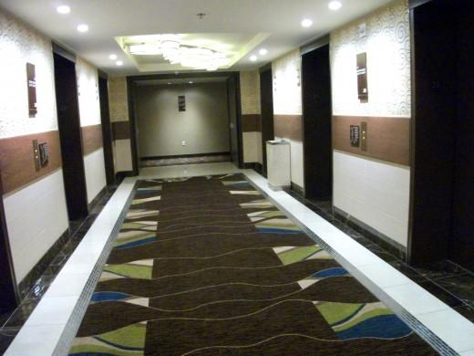Aria Las Vegas 23rd floor elevator lobby
