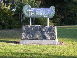 Welcome to Titirangi Sign