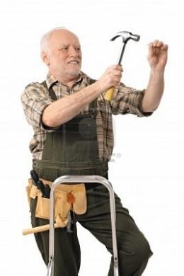 Elderly worker still has his skills