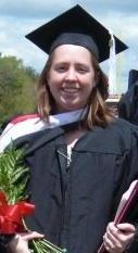 This is me at my college graduation.  It was my best 'new job' photo.  :o)