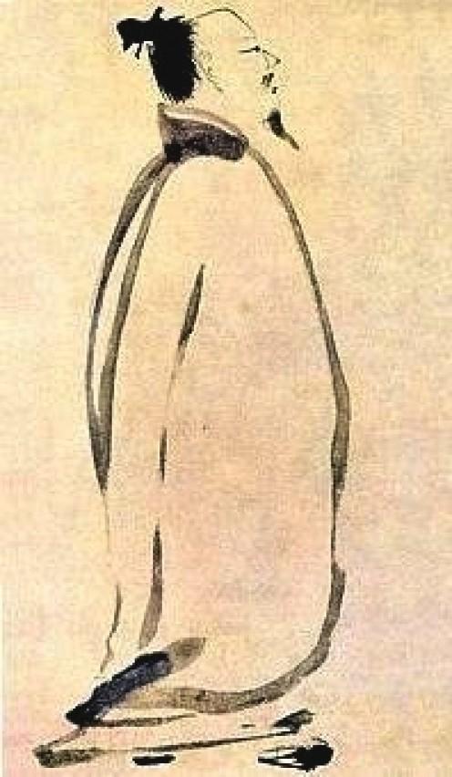 Li Po chanting a poem