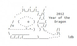 Year of the Dragon: Happy New Year ASCII Text Art