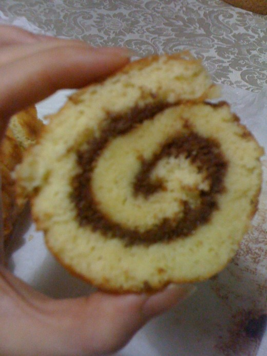 Swiss roll with Nutella
