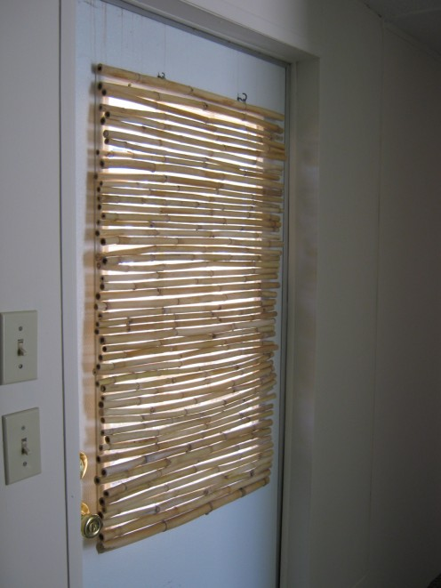 Bamboo window blind I made from bamboo I cut down in my yard.