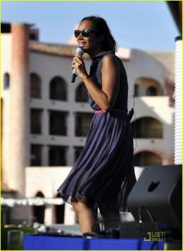 Leona Lewis singing at Cala di Volpe