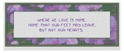 free cross stitch pattern Home quote