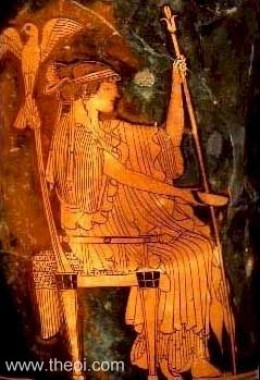 Hera, Zeus's wife, to whom he gave endless cause for jealousy