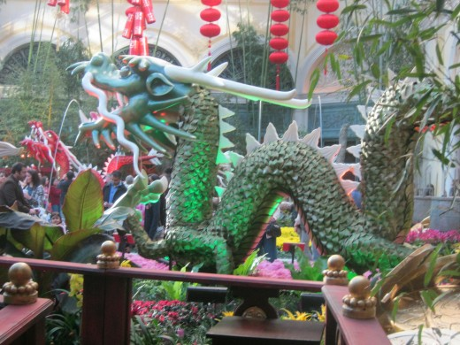 "A ""dragon"" display at the Bellagio Hotel Conservatory, since this year is ""The Year Of The Dragon."""