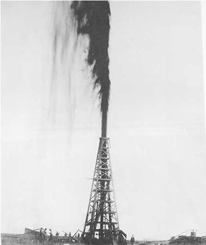 The Lucas Gusher at Spindletop Hill, South of Beaumont, Texas, United States