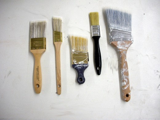 A good assortment of brushes for various applications